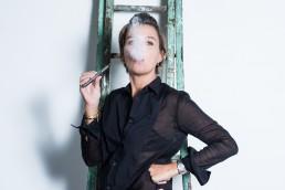 Portrait de marine vignes fumant