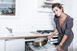 Portrait de marine vignes en cuisine